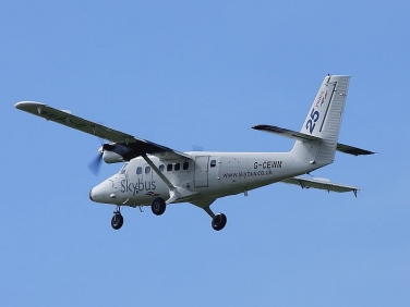 Skybus flight to the Isles of Scilly