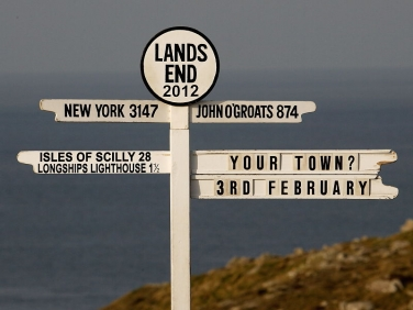 Lands End Sign