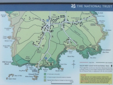 Lizard Point map enlarged