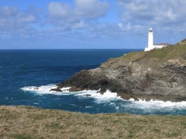 Trevose Head lighthouse on the north Cornish coast