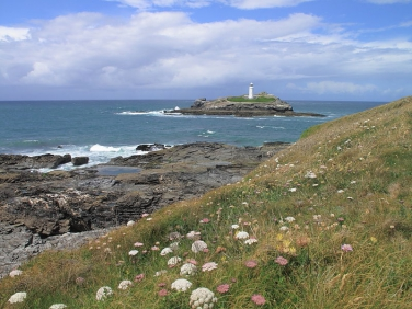 Godrevy Point towards lighthouse