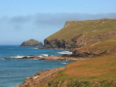 Pentire Point From New Polzeath Beach