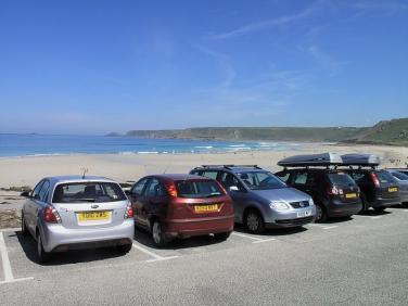 Sennen Cove beach car park