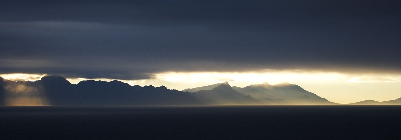 View from the Cape Peninsular across False Bay, South Africa