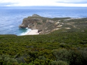 Cape Of Good Hope Reserve - view over fynbos towards Cape Point, South Africa