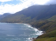 Coastal views from the R44 leading to Rooi Els and Betty's Bay, South Africa