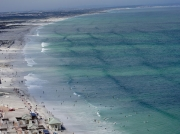 False Bay beaches looking east from the Cape Peninsular, South Africa