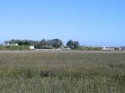 Geelbek visitor centre viewed from the Geelbek Hide walkway, Langebaan Lagoon,West Coast National Park, South Africa2474