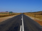 R307 road leading through the Darling Farmlands and Wildflower Reserves, South Africa