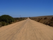 Route across the Darling Farmlands off the main west coast R27 road. north of Cape town South africa