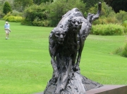 Sculpture of big cats at Kirstenbosch National Botanical Gardens, Cape Town, South Africa