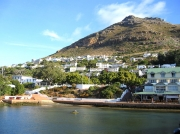 Housing over looking Simon's Towns harbour, Cape Peninsula, South Africa