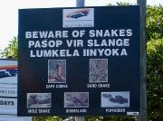 Snake warning at Strandfontein Sewage works, Cape Town, South Africa © 2006 Steve Ogden