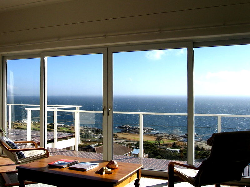 View over False Bay from holiday apartment on the Cape Peninsular, near Simon's Town, South Africa © Claire Ogden