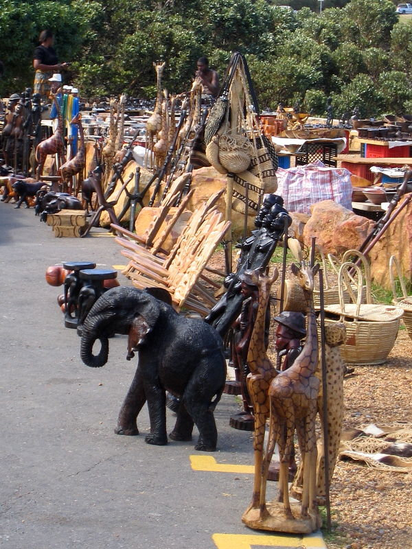 wildlife artifacts for sale outside Cape Town, South Africa © Steve Ogden